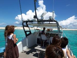 Approaching Nagannu island / ナガンヌ島に近づく