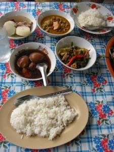 lunch at laem din market