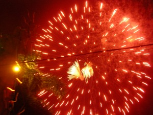 New year fireworks at Chaweng, Koh Samui