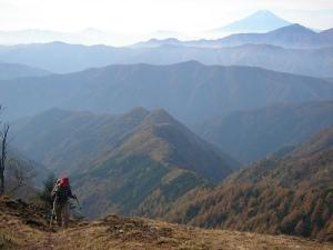 Mt.Kumotoriyama Trek 七ツ石山から高丸山へ(石尾根縦走路)