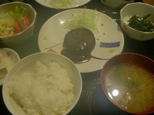 雲取山荘の夕食(雲取山縦走) Kumotori-Sanso
