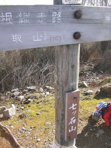 Mt.Nanatsuishiyama 七ツ石山の山頂(雲取山縦走)