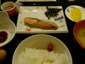雲取山荘の朝食(雲取山縦走) Kumotori-Sanso
